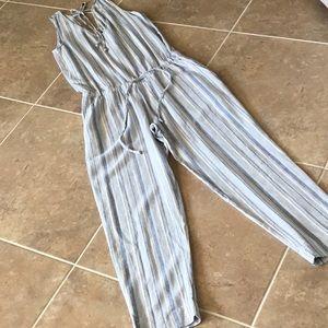 cloth & stone striped jumpsuit, NWOT